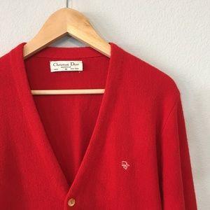 Vintage Men's Christian Dior Button Down Cardigan